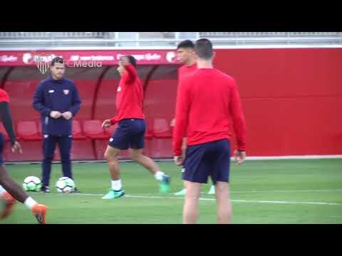 Entrenamiento SFC. 13/04/18. Sevilla FC