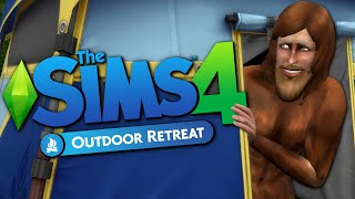 CAMPING WITH BIGFOOT - Sims 4 Outdoor Retreat - The Sims 4 Funny Highlights #67