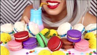 Download lagu ASMR Eating Macarons Dessert ft Unboxing DIY Recipe Whispering MP3