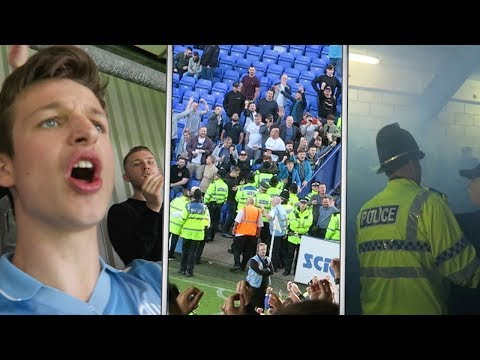 FANS vs POLICE, Pitch INVASION - TRANMERE vs BOLTON VLOG!