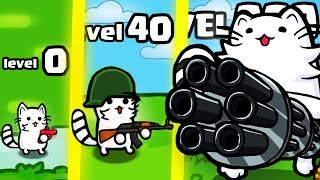 IS THIS MOST STRONGEST WEAPON CAT GUN EVOLUTION? (9999+ STICKMAN LEVEL) l One Gun: Battle Cat