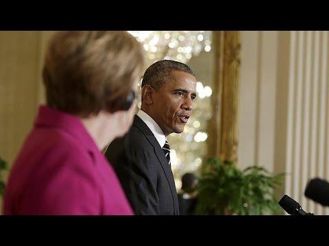 Keine Entscheidung über Waffen für die Ukraine: Merkel und Obama setzen weiter auf Diplomatie