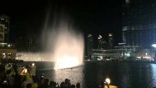 Dubai Mall fountain - Take me to your heart