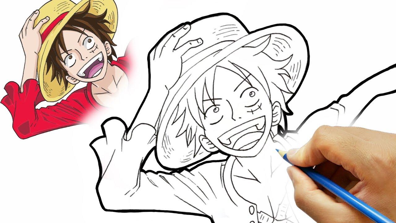 تعليم رسم لوفي من انمي ون بيس Youtube