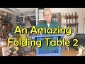 An amazing small folding table to compliment my Adirondack chairs