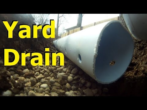 CATCH BASINS & FRENCH DRAIN STOPS FLOODING ~  gravel  + PERFORATED PIPE Yard Drains