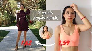 BOYUM UZADI! #1 Boy Uzatma Egzersizi Denedim Streching Routine How to grow taller BenAlmi screenshot 5