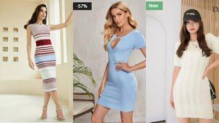 Womens sweater dresses elegant Shein Женские элегантные и модные платья свитера в магазине Шейн