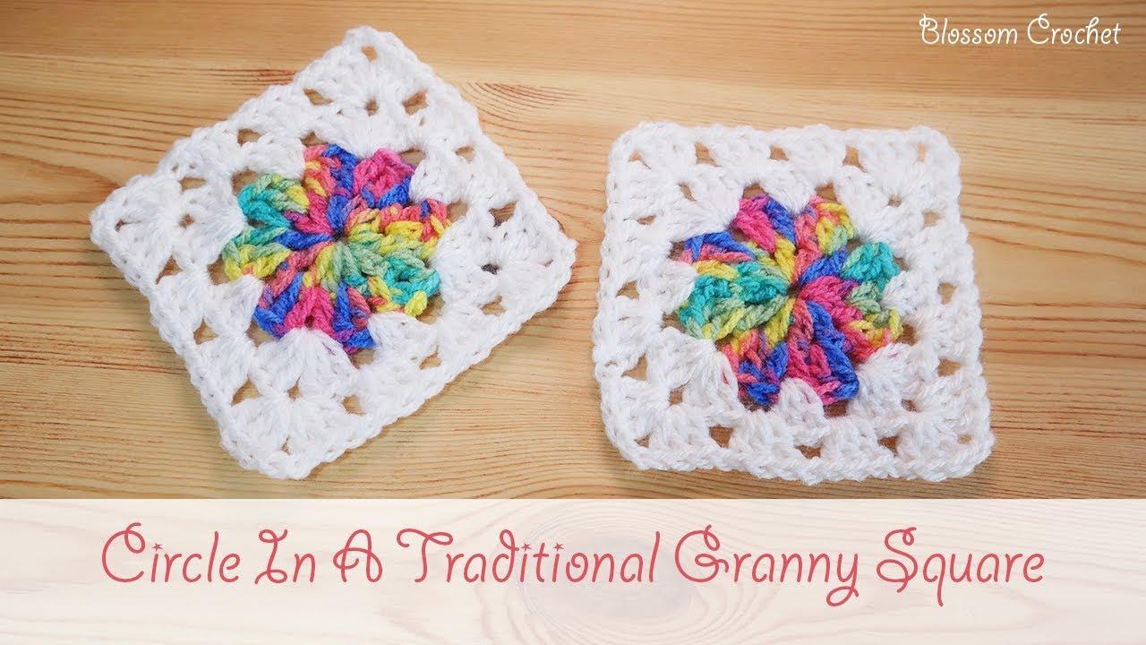 Easy Crochet Circle In A Granny Square Youtube