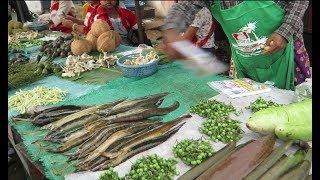 Laos Market - asian street food in savannakhet