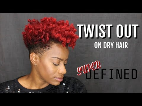 Twist Out (on Dry Hair) - Tapered Cut - Natural Hair | RushOurFashion