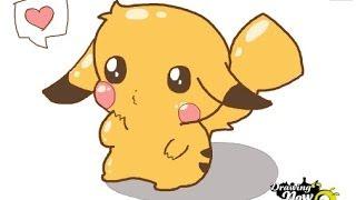 How to draw a Chibi Pikachu