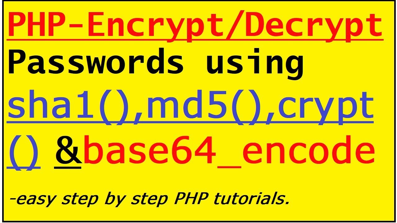 How to Encrypt Password and store in DB for login and signup process-With  Decryption