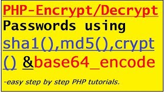 PHP- How to hash/salt/Encrypt and Decrypt Password and store in DB for login and signup process