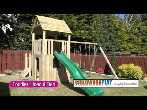 Wooden Climbing frames - The Toddler Hide-Out Den