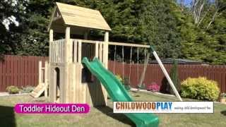 Wooden Climbing Frames - The Toddler Hide-out Den