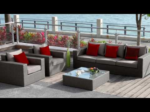 polyrattan gartenm bel lounge sitzgruppe rio grande youtube. Black Bedroom Furniture Sets. Home Design Ideas
