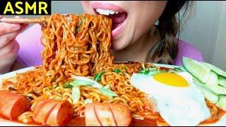 *No Talking* ASMR CHEESY Black Bean Noodles + FIRE Ramen (+recipe) 자장면 먹방 Jajangmyeon (Part 2)
