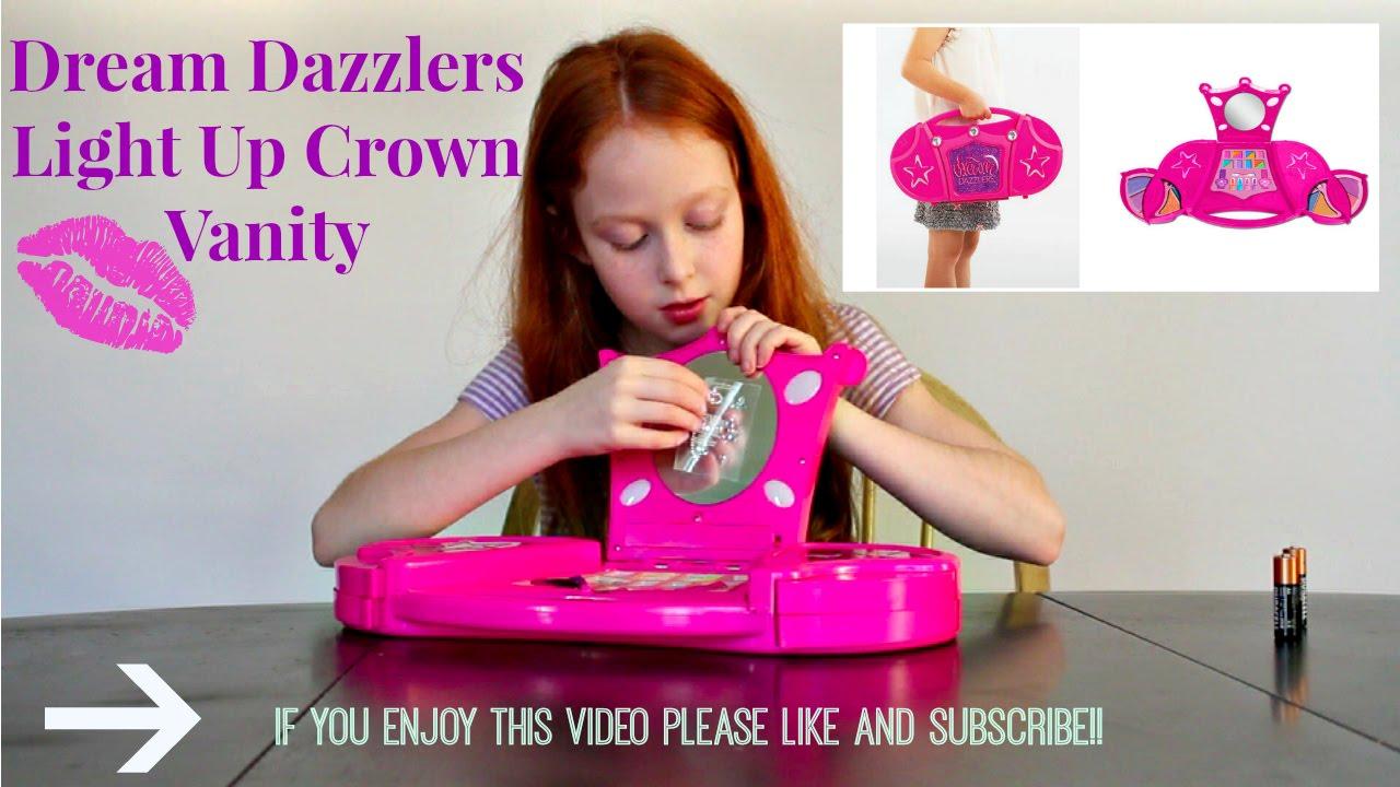 dream dazzlers light up crown vanity youtube. Black Bedroom Furniture Sets. Home Design Ideas