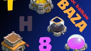 Clash of Clans - TownHall 8 Farming Baza (Balkanski Gameplay)