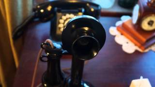 Antique Furniture Two Old Telephones