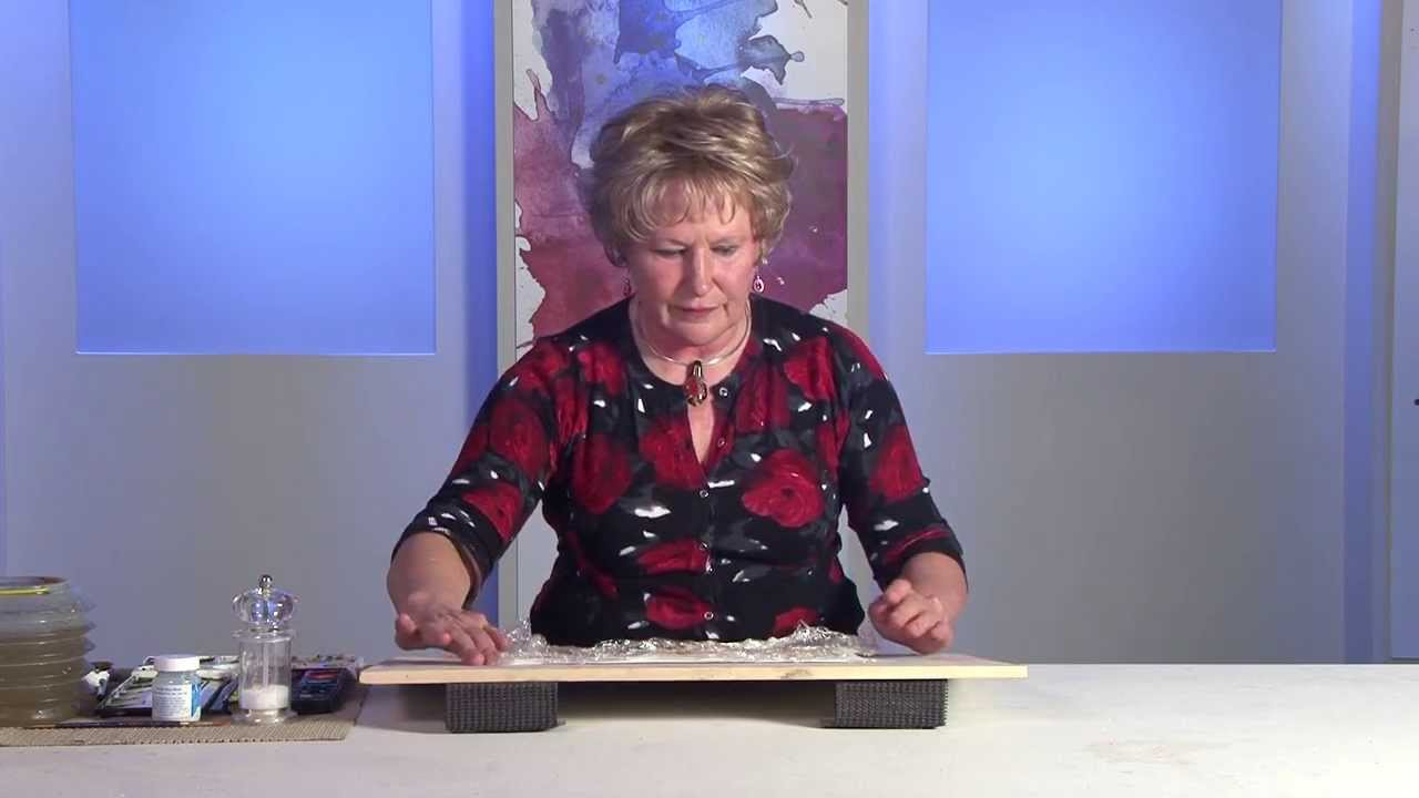 Texture Effects in Watercolour with Julie Hyde - YouTube