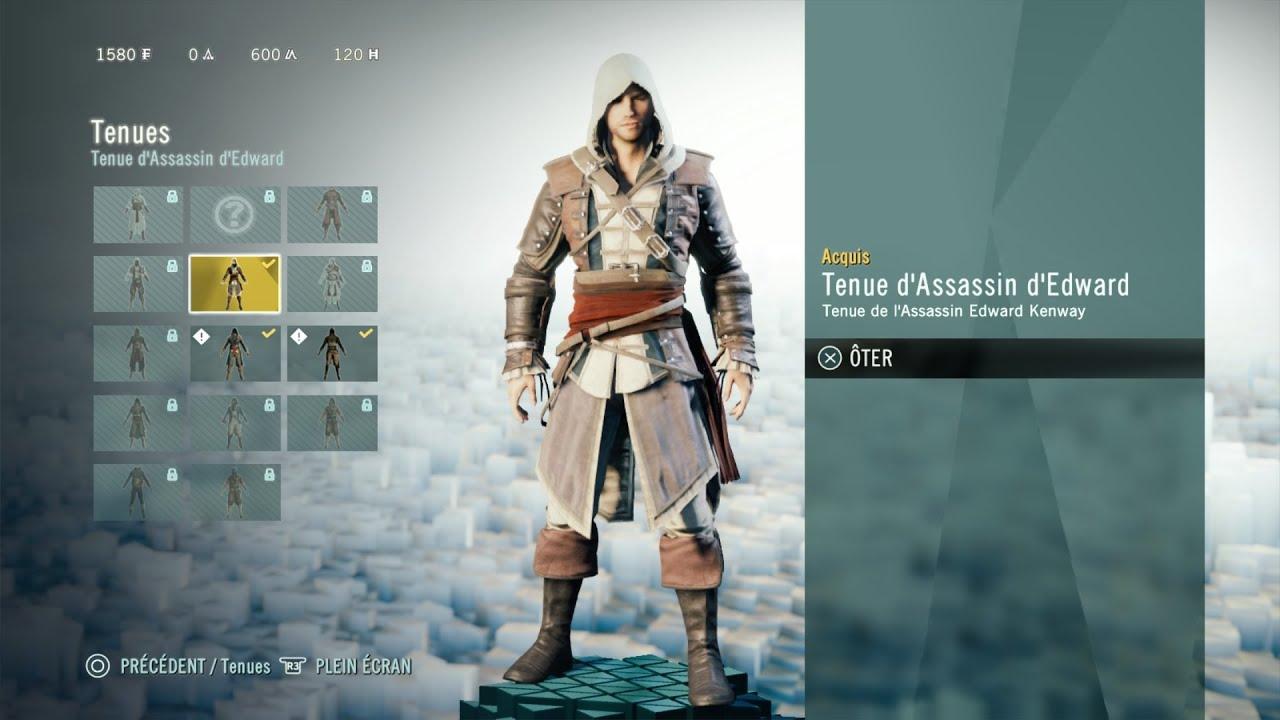 Assassin's Creed Unity:comment débloquer la tenue d'Edward ...