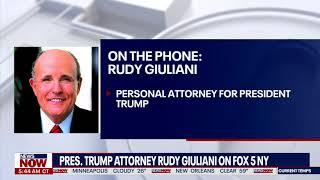 'president in very good mood': rudy giuliani speaks on fox 5 ny