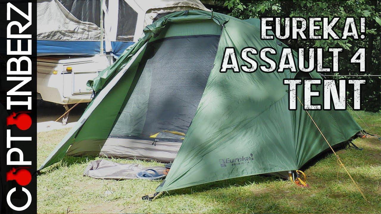 Eureka! Assault Outfitter 4 Tent & Eureka! Assault Outfitter 4 Tent - YouTube