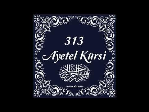 313 Ayetel Kürsi ne muradın varsa hasıl olur Allah'ın izniyle 💗