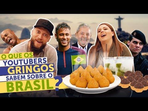 O QUE OS YOUTUBERS GRINGOS SABEM SOBRE O BRASIL