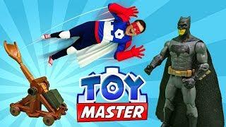 Супергерои - Тоймастер  и Бэтмен в замке Джокера! - Видео для мальчиков.