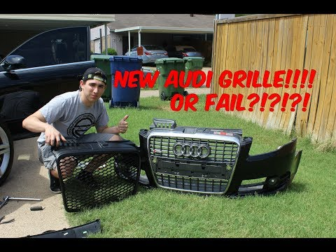How To Install Replace Front Grille 2005-2009 Audi A4