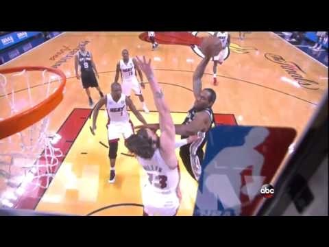 Kawhi Leonard dunked on Mike Miller. with sound effects LOL