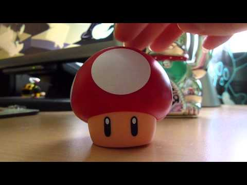Super Mario Mushroom Toy makes a cute sound. ^^