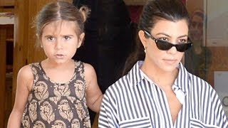 Kourtney And Penelope Meet Kim And Nori At Color Me Mine