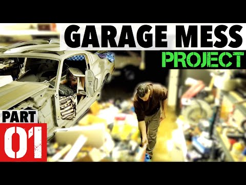 Part 1 -Garage Project- The Embarrassing Mess reveal, Clean up, Set Up