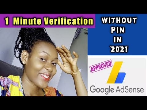 VERIFY GOOGLE ADSENSE WITHOUT PIN IN 2021 || CHANNEL REMONITIZATION / VERIFY BY EMAIL