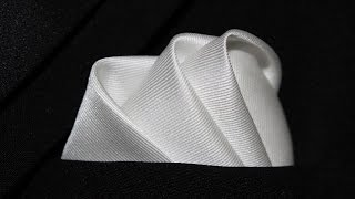 How To Fold a Pocket Square The Wave Fold