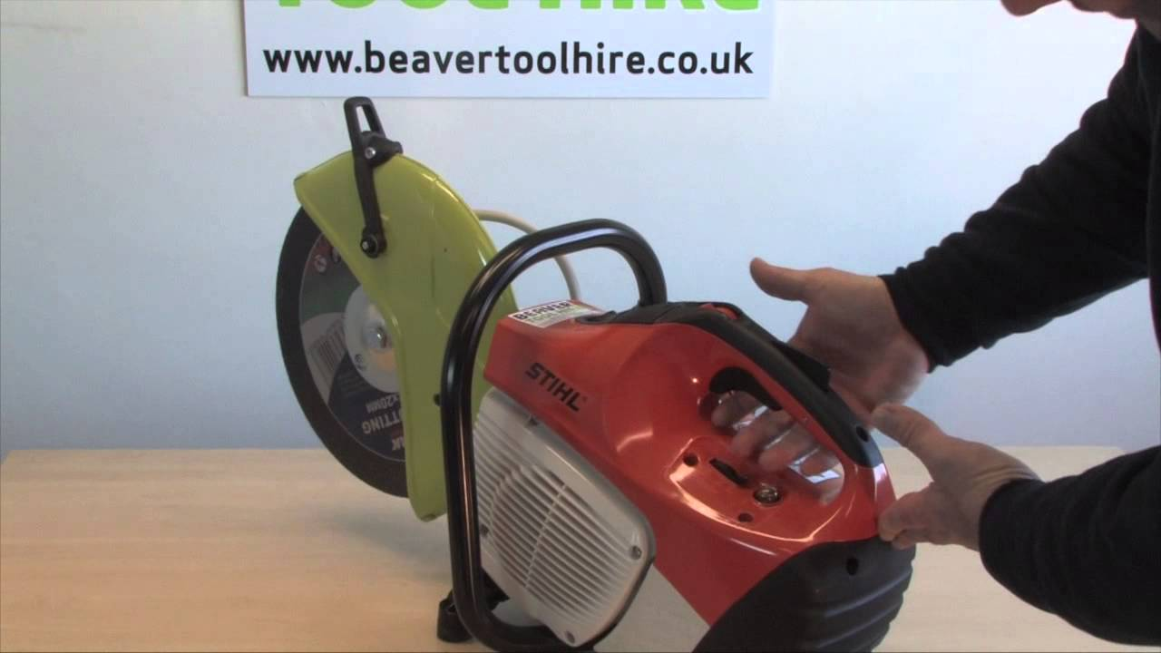 How To Use A Petrol Cut Off Saw For Steel Wood Masonary