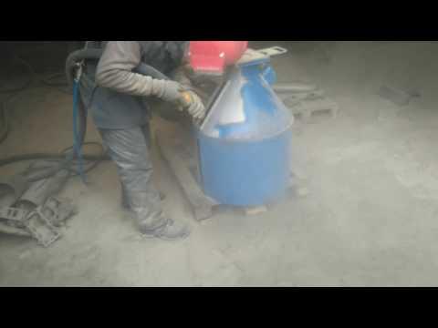 Работа пескоструйки с компрессором ПКС-3,5