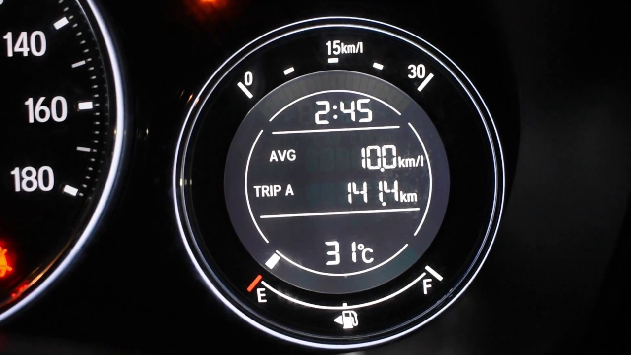 City To City Mileage >> Check Mileage Fuel Range Distance To Empty Set Time In Honda Brv City Wrv Amaze