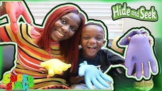 Hide And Seek Slime Gloves Challenge