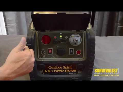 Solar 6 in 1 Emergency Portable Power Station