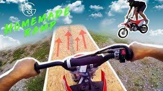 JUMPING HOMEMADE dirt bike RAMP! (DO NO...