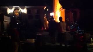 Blue Bloods TV Show film crew at night. Donnie Wahlberg on set filming in house.  Part 2 of 3.