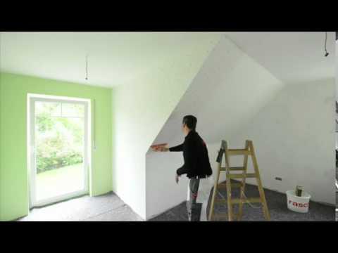 Rasch Tapeten  Wie tapeziere ich an einer Dachschrge