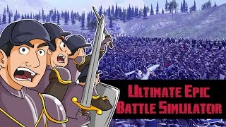 Ultimate Epic Battle Simulator - Chunk Norris vs 50 mil Caballeros vs 5 mil soldados