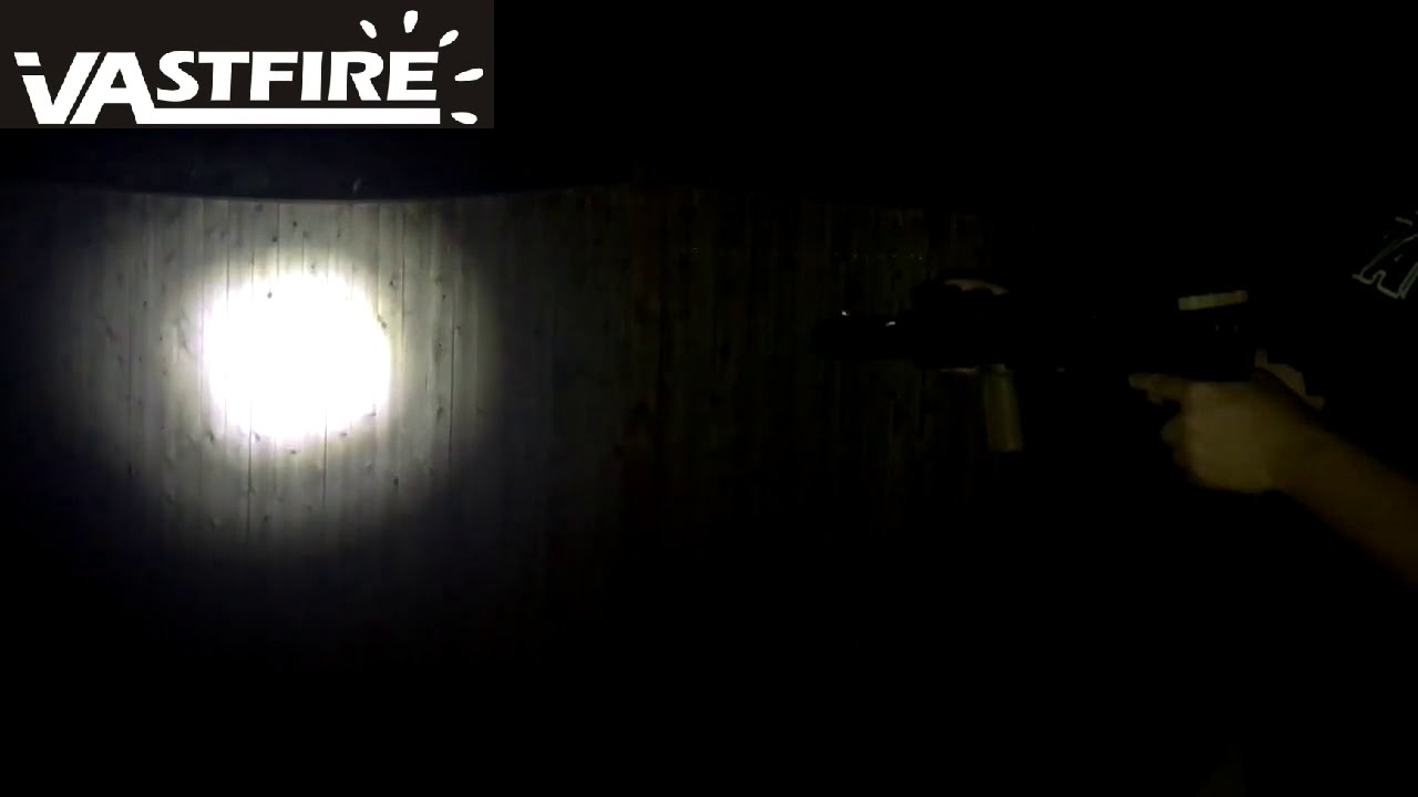 VASTFIRE Zoomable MLOK Flashlight Compatible with MAGPUL Handguard with Screws and backers
