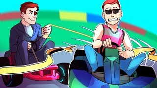 Mario Kart 8 Deluxe Funny Moments: The Finish Line Troll & Last Place Battle With Nogla!
